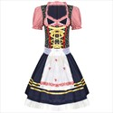 German Dirndl Dress Oktoberfest Short Skirt Costumes for Bavarian Carnival