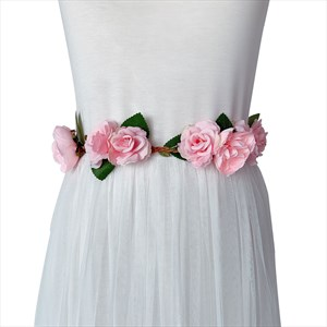 Floral Baby Shower Mom-To-Be Ribbon Sash For Dress