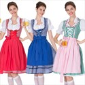 Women's Oktoberfest Costume Bavarian Beer Girl Drindl Tavern Maid Dress