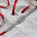 Luxurious Rhinestone Bridal Sash Belt