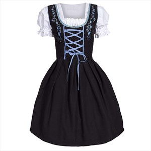 Women Medieval German Oktoberfest Dirndl Cosplay Costume Party Dress