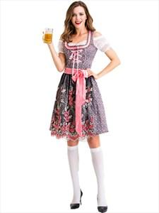 Ladies Oktoberf Beer Maid Authentic German Festive Bar Waiter Bavarian Dirndl Peasant Dress