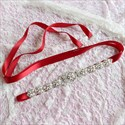 Satin Bridal Ribbon Sash With Pearls And Rhinestone