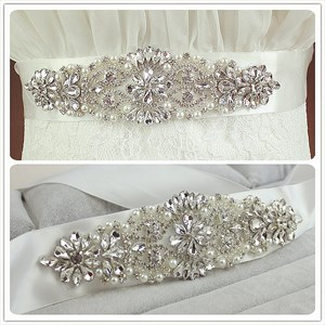 Enchanting Pearls And Rhinestone Bridal Belt Bridesmaid Sash