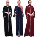 Trumpet Sleeve Abaya Dress With Pearl Embellishment