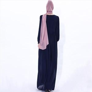 Women's Lace Applique Embellished Chiffon Maxi Dress