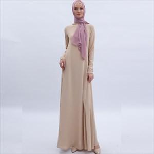 Women's A-Line Long Sleeves Arab Ramadan Maxi Dress