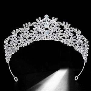 Zircon Leaves Sweetheart Alloy Wedding Tiara Princess Headpieces