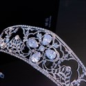 Zircon Bridal Crown Royal Alloy Wedding Princess Headpieces
