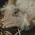 Tulle Gloves With Bowknot Embellished