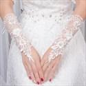 Lace Beaded Embellished Gloves