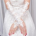 Lace Beaded Embellished Gloves