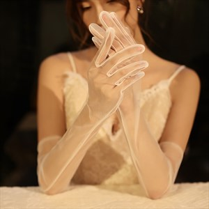 Classic Tulle Long Gloves