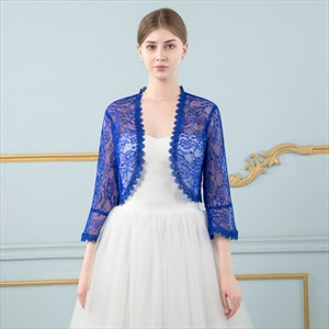Lace Wrap Long Sleeves Jacket With Lace Trim