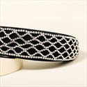 Black Princess Headbands With Rhinestones