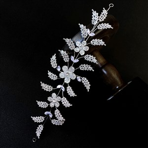 Zircon Floral Crystal Princess Headbands