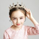 Girl's Tiara Princess Birthday Crystal Crown With Pearls