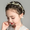 Girl's Alloy Floral Princess Headband With Pearls