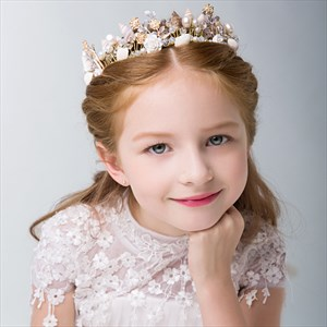 Girl's Shell Headpieces Ceramic Princess Crown