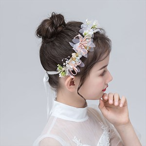 Girls Floral Princess Headbands With Butterfly