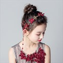 Girls Alloy Floral Princess Headbands With Pearls