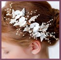 Girls Alloy Floral Crystal Princess Headpieces