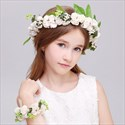 Flower Girl Hair Wreaths Leaf Handmade Headpieces