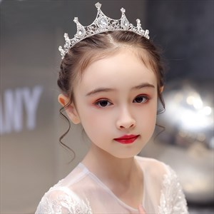 Girls Princess Alloy Crown Rhinestones Tiaras
