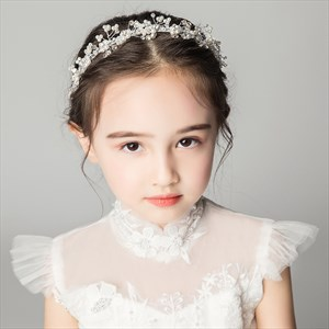 Girls Princess Alloy Headpieces With Pearls