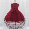 Lace Bodice Tulle Toddler Girl Birthday Dress With Flower