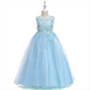 Sequin Bodice Tulle Holiday Flower Girl Dress With Bowknot