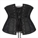 Black Lace Embellished Waist Cinchers Trainer Corset
