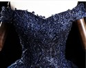Beaded Lace Applique Off The Shoulder Layered Prom Dress