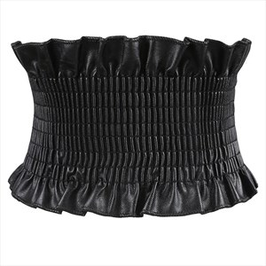 PU Leather Waistband Elastic Waist Cincher Corset Belt