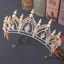 Rhinestones Alloy BIRTHDAY Tiara Princess Crown With Pearls