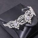 Zircon Alloy Crystal Bridal Tiara With Rhinestone Accents