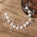 Acrylic Pearl Handmade Wedding Floral Hair Vine