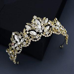 Alloy Rhinestones Halloween Party Crown Bridal Tiara