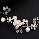 Handmade Beaded Bridal Flower Hair Vine With Pearls