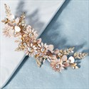 Vintage Alloy Rhinestone Flower Hairpin