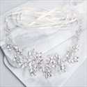 Luxury Handmade Rhinestone And Crystal Wedding Sash Belt