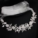 Alloy Floral And Leaf Bridal Belt With Rhinestone