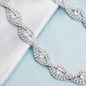 Criss Cross Rhinestone And Crystal Knit Bridal Belt