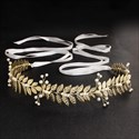 Alloy Leaf Handmade Pearls Princess Birthday Bridal Belt
