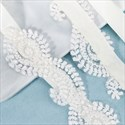 Handmade Lace Applique Embellished Princess Bridal Sash Belt