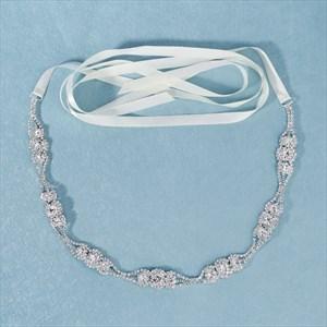Classic Floral Rhinestones Princess Wedding Sash Belt