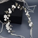 Handmade Floral Crystal Wedding Sash Belt With Pearls