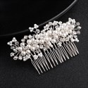 Pearl And Crystal Hair Comb Princess Headpieces