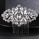 Dramatic Silver Rhinestones Hair Comb Princess Headpieces