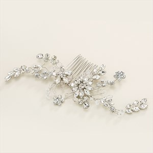 Crystal Bridal Hair Comb With Rhinestone Accents
